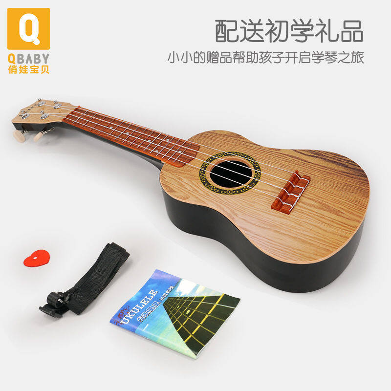 toy Wooden guitar ukulele beginner children can play simulation music musical instrument girl boy Malaysia