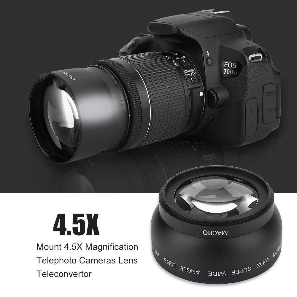 Voucher Giảm Giá 52mm 0.45X Góc Rộng Đa Năng Chuyển Đổi Ống Kính Macro Cho Máy Ảnh Canon Nikon Sony