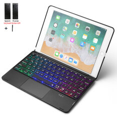 For iPad 9.7 2018 Touchpad Backlight Wireless Bluetooth Keyboard Case Cover For iPad 2017 Air 2 Air 1 Pro 9.7 inch Fundas+Stylus
