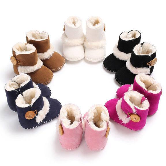 【Forever CY Baby】bé Trai Bé Gái Mới Sinh Mùa Đông Tuyết Khởi Động Giày Trẻ Em Tập Đi Đế Cũi Mềm Kích Thước 0-18M giá rẻ