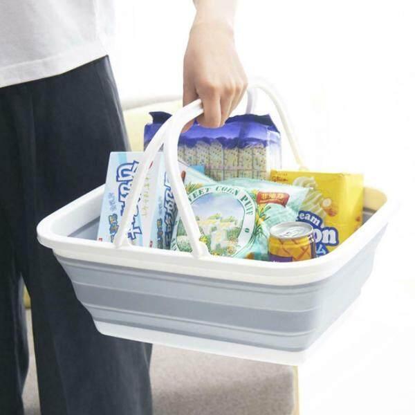[CNY 2020]Multifunctional Folding Portable Storage Basket Household Kitchen Vegetables Fruits Washing[COD&Free Shipping]