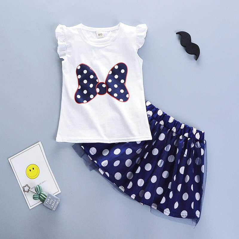 f4dd86487bcc7 BibiCola Summer Girls Clothing Sets Kids Girl Cartoon Tops+Skirts 2pcs  Clothes for Baby Girl