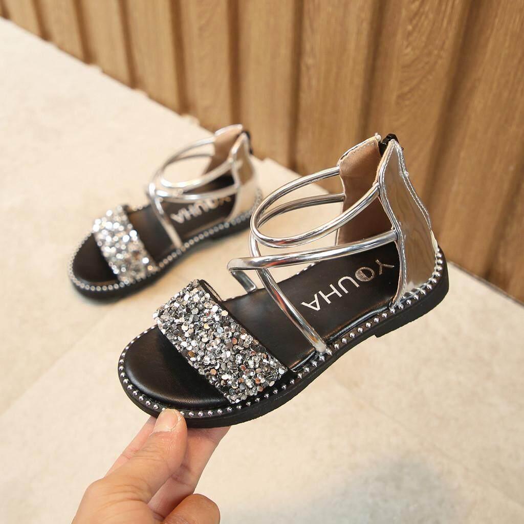 01eee138f5d6 viviroom-Toddler Kids Baby Girls Summer Sequins Bling Sweet Party Princess  Shoes Sandals
