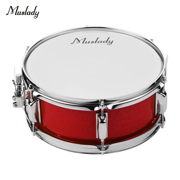 Muslady 12Inch Snare Drum Head Với Dùi Trống Dây Đeo Vai Trống Key Cho Ban Nhạc Sinh Viên