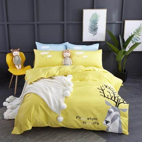 100%cotton Cartoon Bedding Set Ballet Girl For Kids Duvet Cover Set Bed Sheet Pillowcases Toddler Bed/twin/queen Size 3/j/pcs.