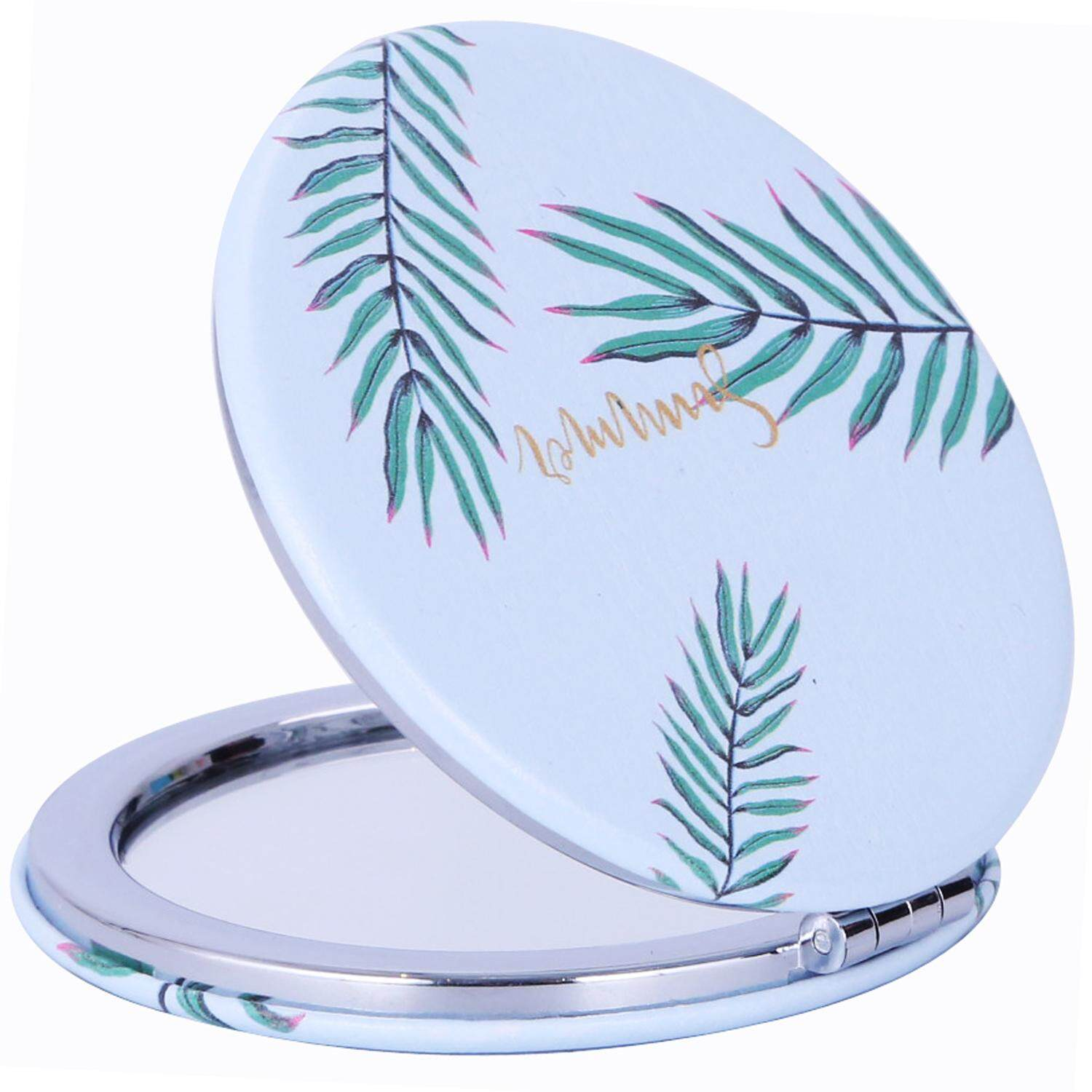 Makeup Mirrors Skin Care Tools Travel Women Make Up Mirror Hand Pocket Heart-shaped Double Folded-side Mirror Cosmetic Portable Fashion Cute New Plastic