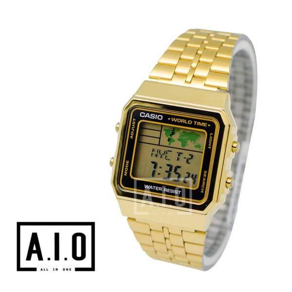Casio Classic Series Digital Mens Gold Stainless Steel Strap Watch A500WGA-1D A-500WGA-1D A-500WGA-1 (watch for man / jam tangan lelaki / men watch / watch for men / casio watch for men / casio watch) Malaysia