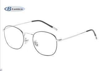 B-F Chụp Ảnh Chống Radiasi Wanita Pria Ringan Besi Khung Kacamata Thời Trang Kaca Mata Minus thumbnail