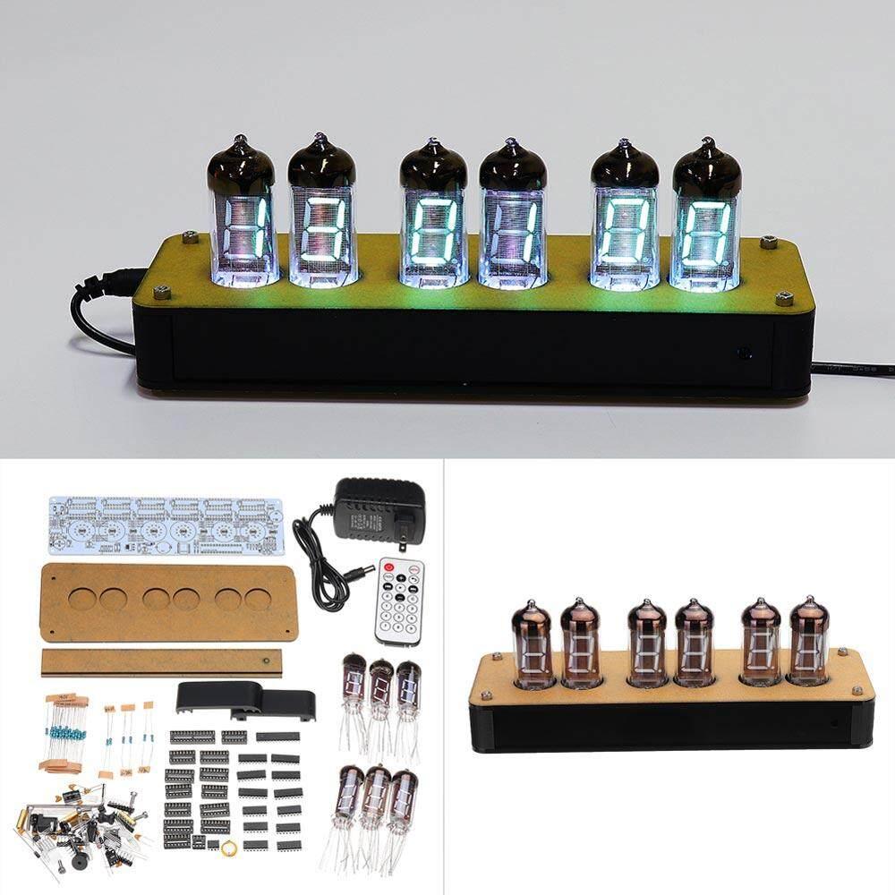 New Version Wooden Housing IR Remote Controller IV-11/ИВ-11 VFD Nixie Tube  Clock DIY KIT