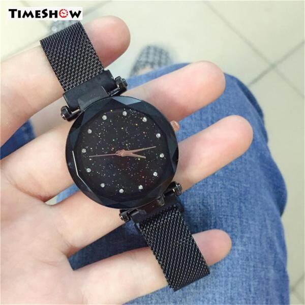 TimeShow Women Quartz Watch Diamond Star Sky Dial Magnetic Buckle Lady Wrist Watch Malaysia