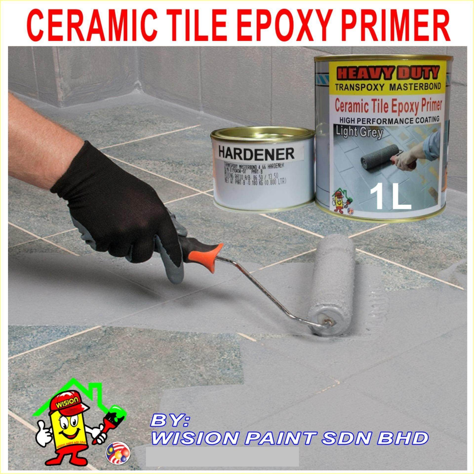 1L HEAVY DUTY EPOXY PRIMER TILES AND CERAMIC WATERPROOFING EXTERIOR AND INTERIOR TOILET