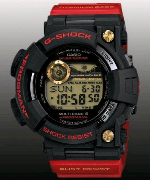 SPECIAL PROMOTION CASI0 G...SH0CK_FROGMAN TRIPLE SENSOR DIGITAL RUBBER STRAP WATCH FOR MEN(Along with Free Kids Watch) Malaysia
