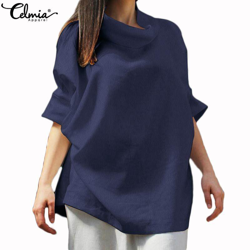 b8bcecaf200 Specifications of Celmia Women Turtle Neck Batwing Sleeve Oversized Blouse  Casual T Shirt Top Tee
