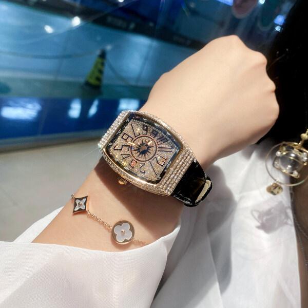 Gypsophila genuine watch female Richard ten brands full diamond super flash ladies watch Frank male light luxury Muller Malaysia