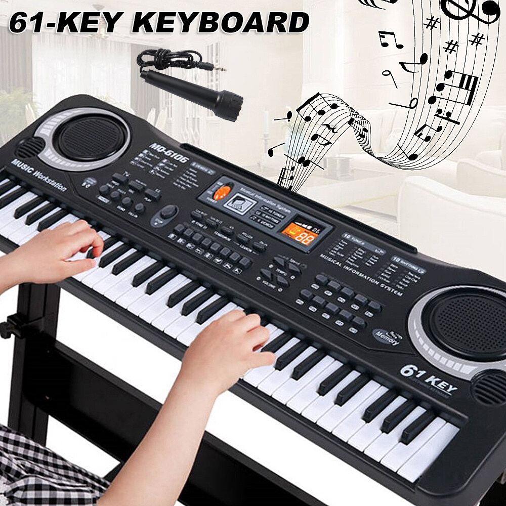 61 Key Digital Music Electronic Keyboard Children Toy Electric Piano Organ Gift.