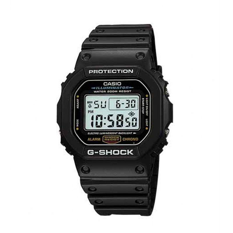Casio G-Shock Standard Digital Black Resin Watch DW5600E-1V DW-5600E-