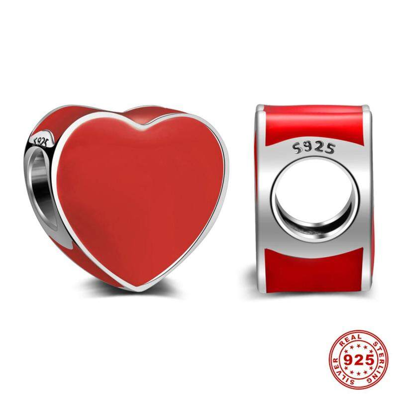 S925 Red heart symbol of romantic love can  made  necklace & pendant