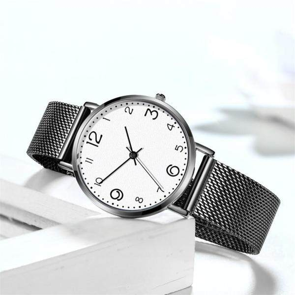 MRO Fashionable Temperament Female Mesh Belt Watch Quartz Analog Round Watch Malaysia
