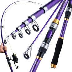 Sougayilang Telescopic Fishing Rod 1.8M-3.3M Xách Tay Fishing Rods Cứng FRP Sợi Carbon Fishing Pole Cho Nước Ngọt Saltwater Fishing