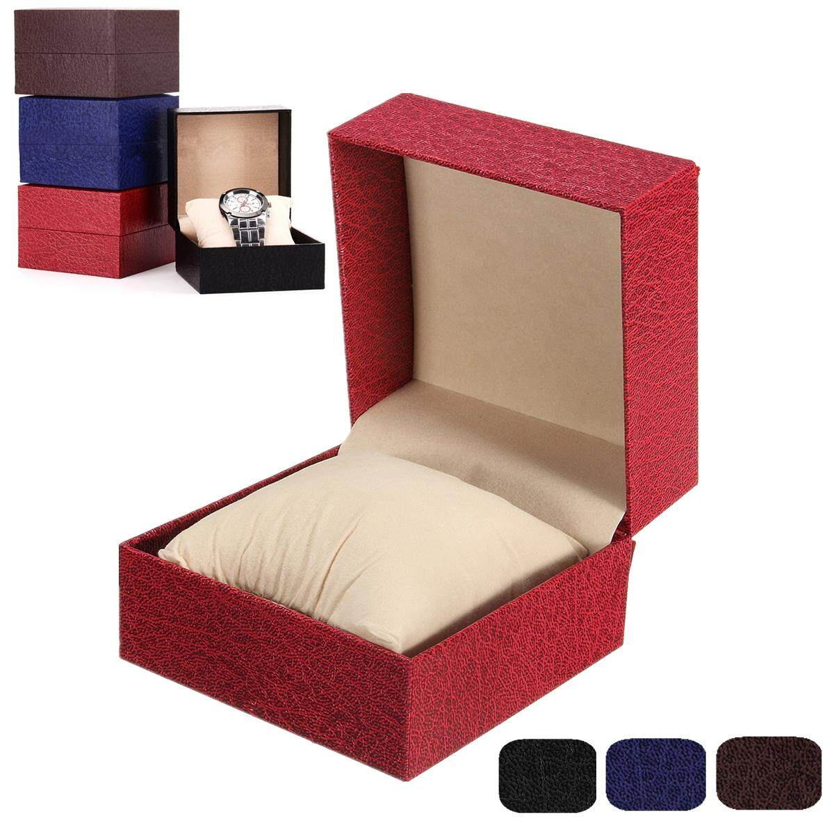 1 Grid Slot Watch Jewelry Display Box Case Organizer Holder Storage Gift 4 Color Red Malaysia