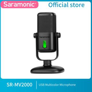 SR-MV2000 Saramonic Mới 2021micro USB Studio USB Cardioid Với Nhiều Màu Sắc Đèn LED Chỉ Báo, Để Ghi Âm Trực Tuyến Trên PC & Mac, Windows, Dành Cho YouTube, Facebook Live, Trò Chơi thumbnail