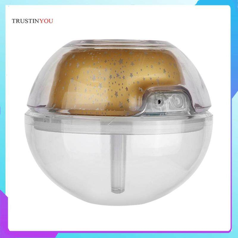 500ml Projection Humidifier USB Aromatherapy Lamp Air Freshener LED Crystal Ambient Night Light Singapore
