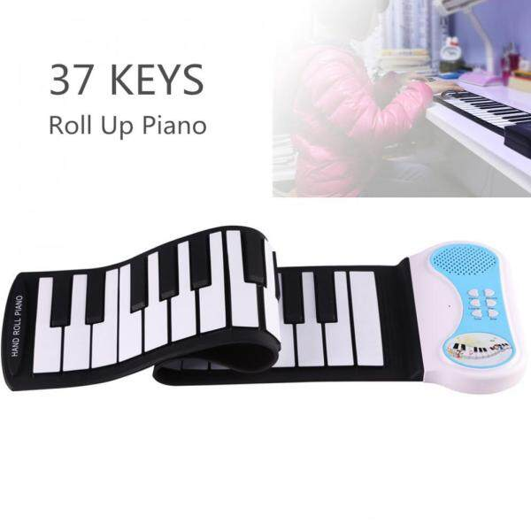 37 Keys Flexible Hand Roll Up Piano Electronic Keyboard Organ Enlightenment Music Gift for Children Students Music Performance Malaysia