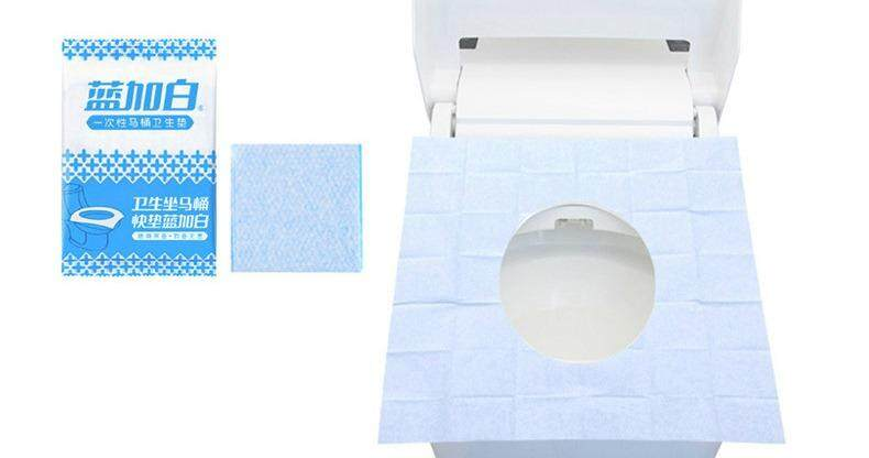 [ready Stock] Travel Disposable Toilet Seat Cover Public Anti-Bacterial Pad By Easy Simple.