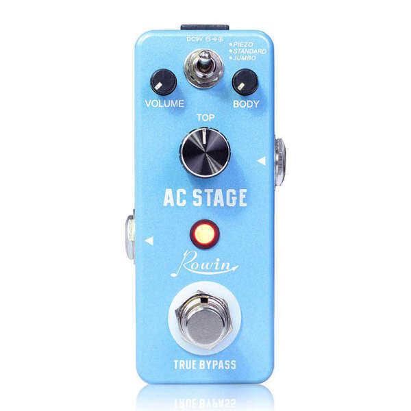 Rowin Guitar Effects Classical Ac Stage Acoustic Effects Pedal Guitar True Bypass Design Acoustic Guitar Simulator Effects