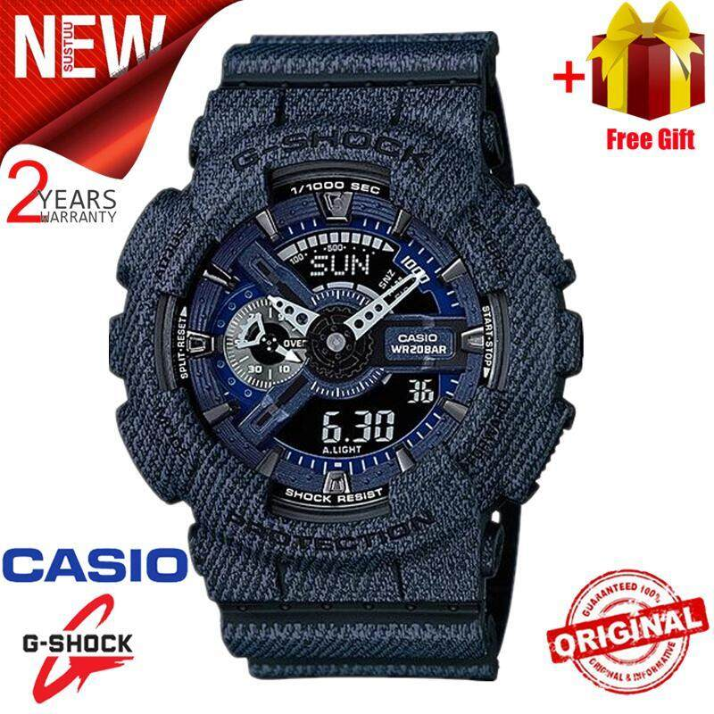 (Free Shipping) Original Casio G Shock_GA-110DC-1A Men Sport Watch Duo W/Time 200M Water Resistant Shockproof and Waterproof World Time LED Auto Light Wist Sports Watch with 2 Year Warranty GA110/GA-110 Malaysia