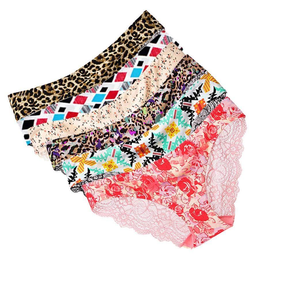 0a6ba7493cae Aiipstore 6PC Sexy Women Lace Flowers Low Waist Underwear Panties G-string  Lingerie Thongs