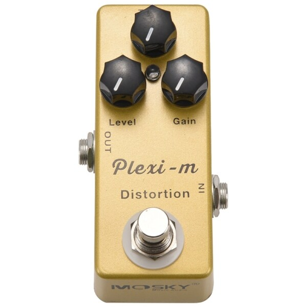 MOSKY Plexi-m Electric Guitar Distortion Effect Pedal Guitar Parts Full Metal Shell True Bypass Malaysia