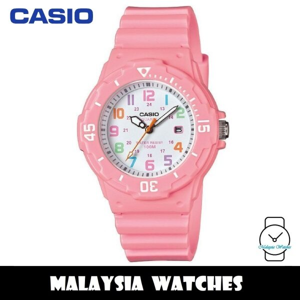 (100% Original) Casio LRW-200H-4B2 Quartz Analog White Dial Pink Resin Watch LRW200H LRW200H-4B2 LRW-200H-4B2VDF Malaysia