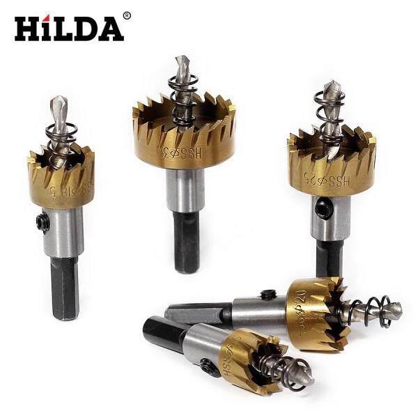 HILDA 5 Chiếc Carbide Đầu Mũi Khoan HSS Thấy Bộ Kim Loại Gỗ Khoan Lỗ Cắt Công Cụ cho Việc Cài Đặt Khóa 16/18. 5/20/25/30mm