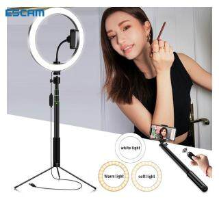 ESCAM 120-LED Ring Fill Light Studio Photo Video Dimmable Lamp Selfie with 1.2m Tripod,Ring light with stand thumbnail