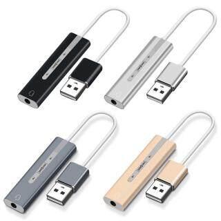 Bộ Chuyển Đổi Tai Nghe Điều Chỉnh Âm Lượng 2 Trong 1 Nghe Nhấn Nút Bài Hát Thay Đổi Nhỏ Cầm Tay Dùng Cho PC Plug And Play Giắc Cắm USB Sang 3.5Mm Với Microphone, Card Âm Thanh Bên Ngoài thumbnail