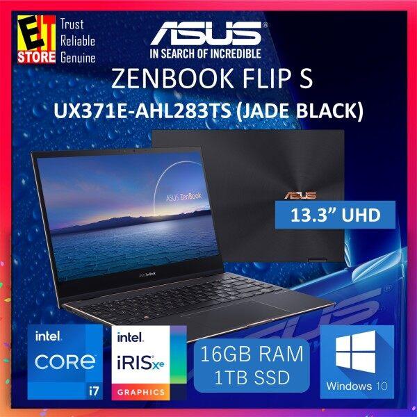 ASUS ZENBOOK FLIP S (UX371E-AHL283TS)/ I7-1165G7/ 16GB RAM / 1TB  SSD/ OLED UHD/ INTEL® IRIS XE GRAPHICS/ 2 YRS WARRANTY - LAPTOP Malaysia