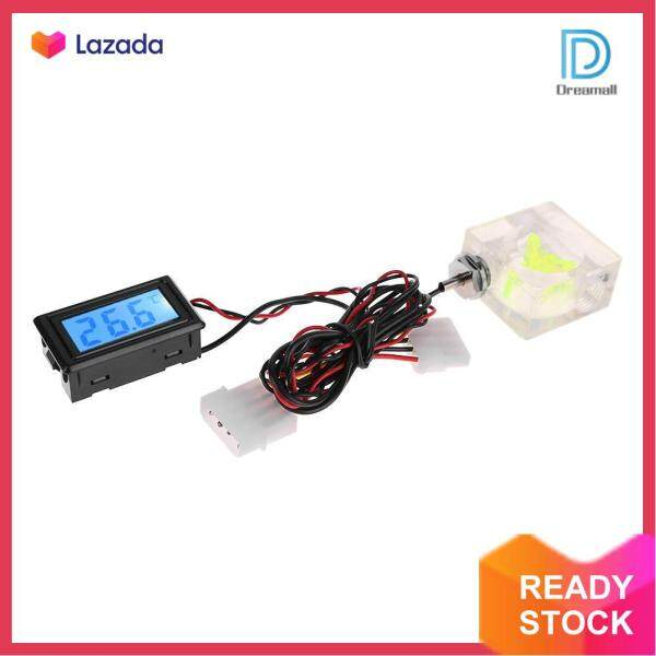 LED Digital Thermometer 3 Way Flow Meter for PC Water Cooling Liquid System Malaysia