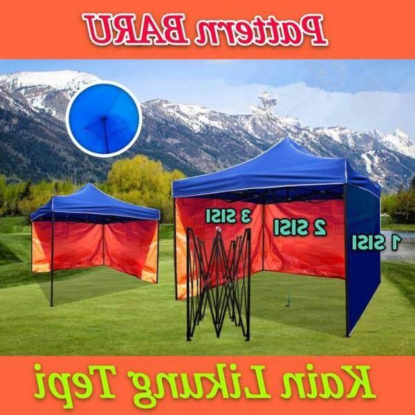 itop 2m 2.5m 3m 4.5m One Sidewall Blue Orange Only for Canopy Blue Orange Canvas Kain Sisi Saja Kanopi Khemah