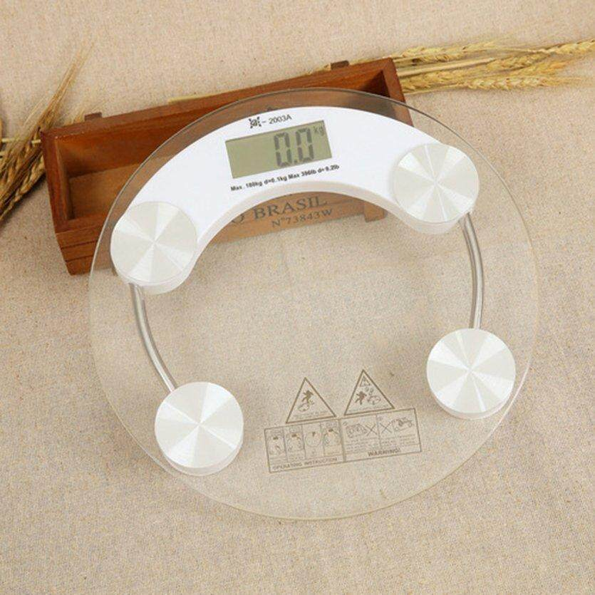 TOP Electronic Weight Scale LCD Display Digital Body Weighing Tempered Scale