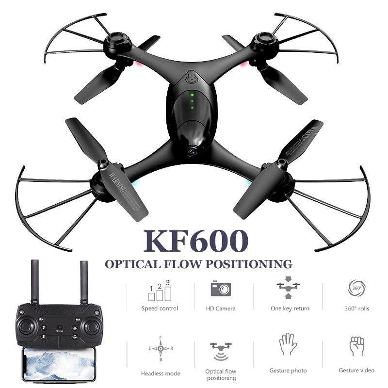Penjualan Terbaik KF600 G-Sensor Arus Penglihatan Posisi Drone RC dengan 720 P Kamera Ketinggian Terus Gerakan Otomatis Foto Kuadkopter FPV
