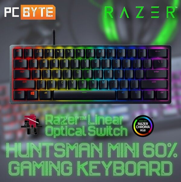 Razer Huntsman Mini 60% Mechanical Gaming Keyboard with Razer Linear Optical Switch (Black) Malaysia