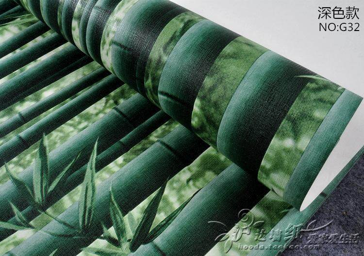 3D Bamboo Wallpaper Restaurant Tea House Hotel Passage Hall TV Background Wall, Classical Chinese Style Wallpaper