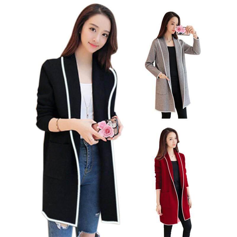 a29b5b748 Korean Long Style Long Sleeve Cardigans Women Top Jacket