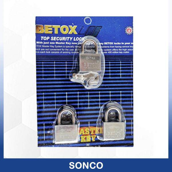 3 Pcs BETOX 40mm Stainless Steel Top Security Heavy Duty Padlock / Kunci Padlock