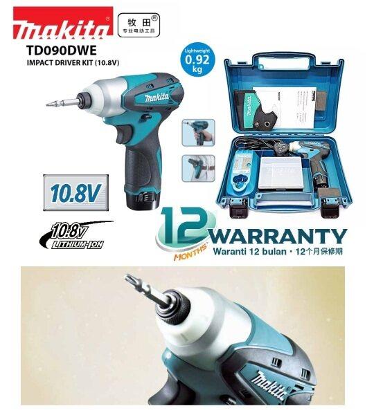 Makita TD090DWE 10.8V (1/4) Hex Cordless Impact Driver