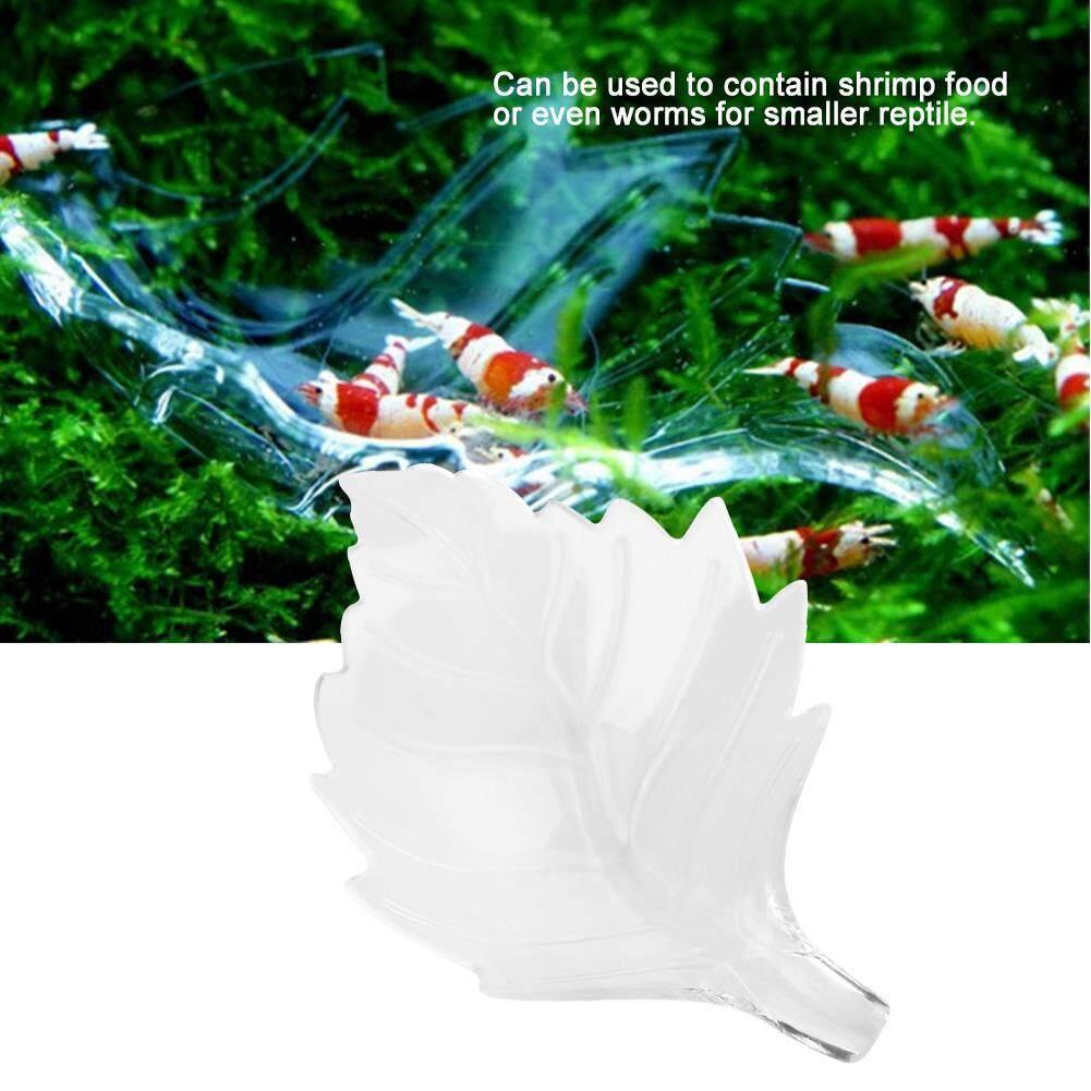 DeeTee Acrylic Leaf Aquarium Shrimp Feeding Dish Bowl Tray Water Food Dish Feeder Bowl