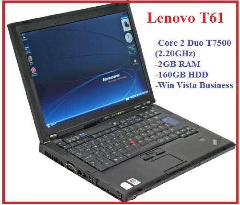 (Refurbished) Lenovo T61 Core 2 Duo T7500 2.20GHz / 2GB Ram / 160GB HDD / Win Vista Business Laptop Malaysia