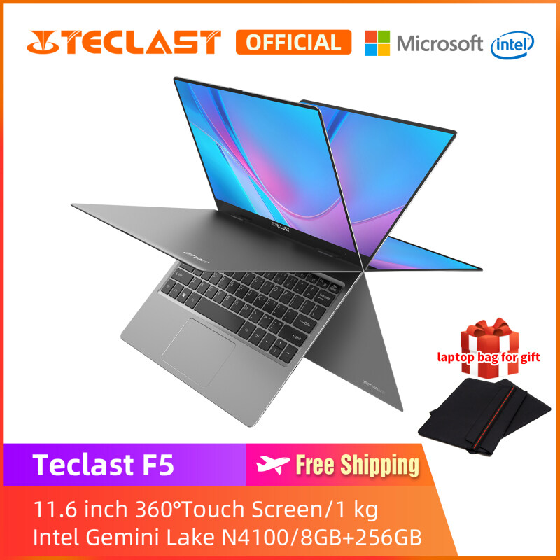 [ Free Laptop Bag ] Teclast F5 laptop murah/11.6 inch 360° Rotating Touch FHD Screen/ 8GB RAM 256GB SSD/Windows 10 /Intel Celeron N4100/1 year warranty/Installment Malaysia