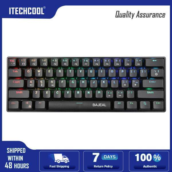 Type-C Wired 61 Keys Blue Switch Mechanical Gaming Laptop Tablet Mini Keyboard Computer Accessories Singapore